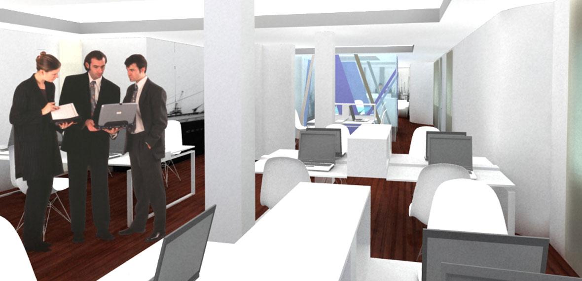 Reforma de oficinas plaza de las cortes besc s nicoletti for Reformas de oficinas